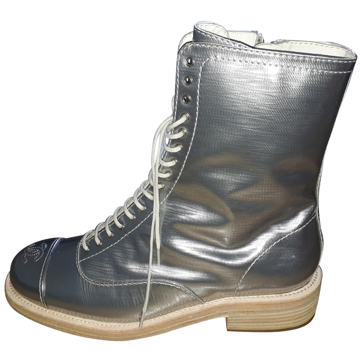 Chanel \N Metallic Leather Ankle boots for Women 39 EU