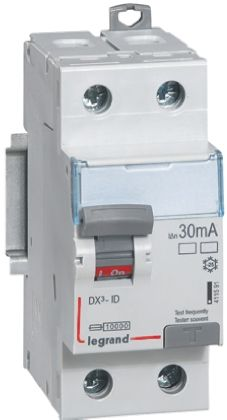 Legrand 1 + N 63 A RCD Switch, Trip Sensitivity 30mA