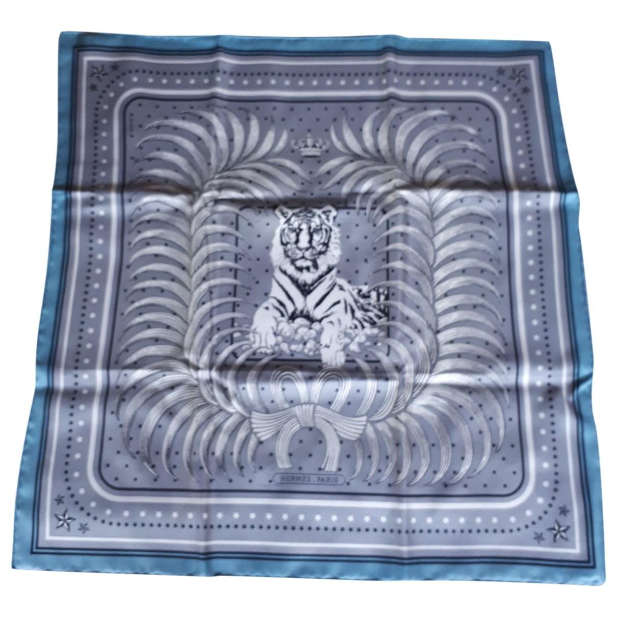 Hermès Pointu Grey Silk scarf for Women \N