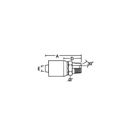 Weatherhead 24Z124 - Fittings   Hose End(Perm) R2 Mm+ Str M Pipe
