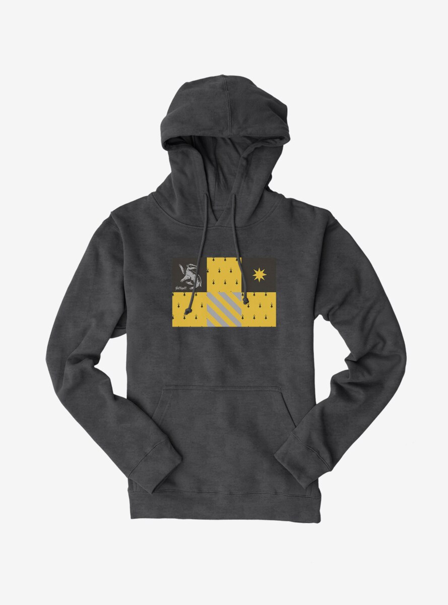 Harry Potter Hufflepuff Checkered Patterns Hoodie