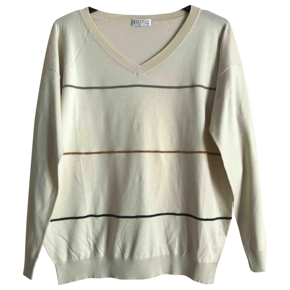 Brunello Cucinelli \N Ecru Cotton Knitwear for Women S International