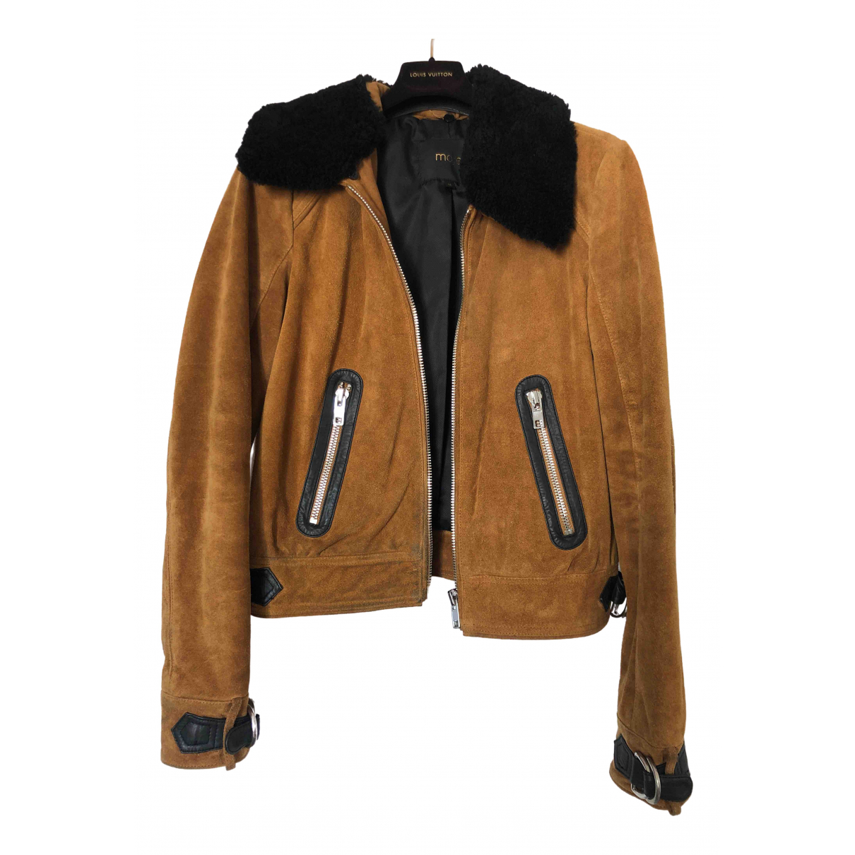 Maje \N Camel Suede jacket for Women 36 FR