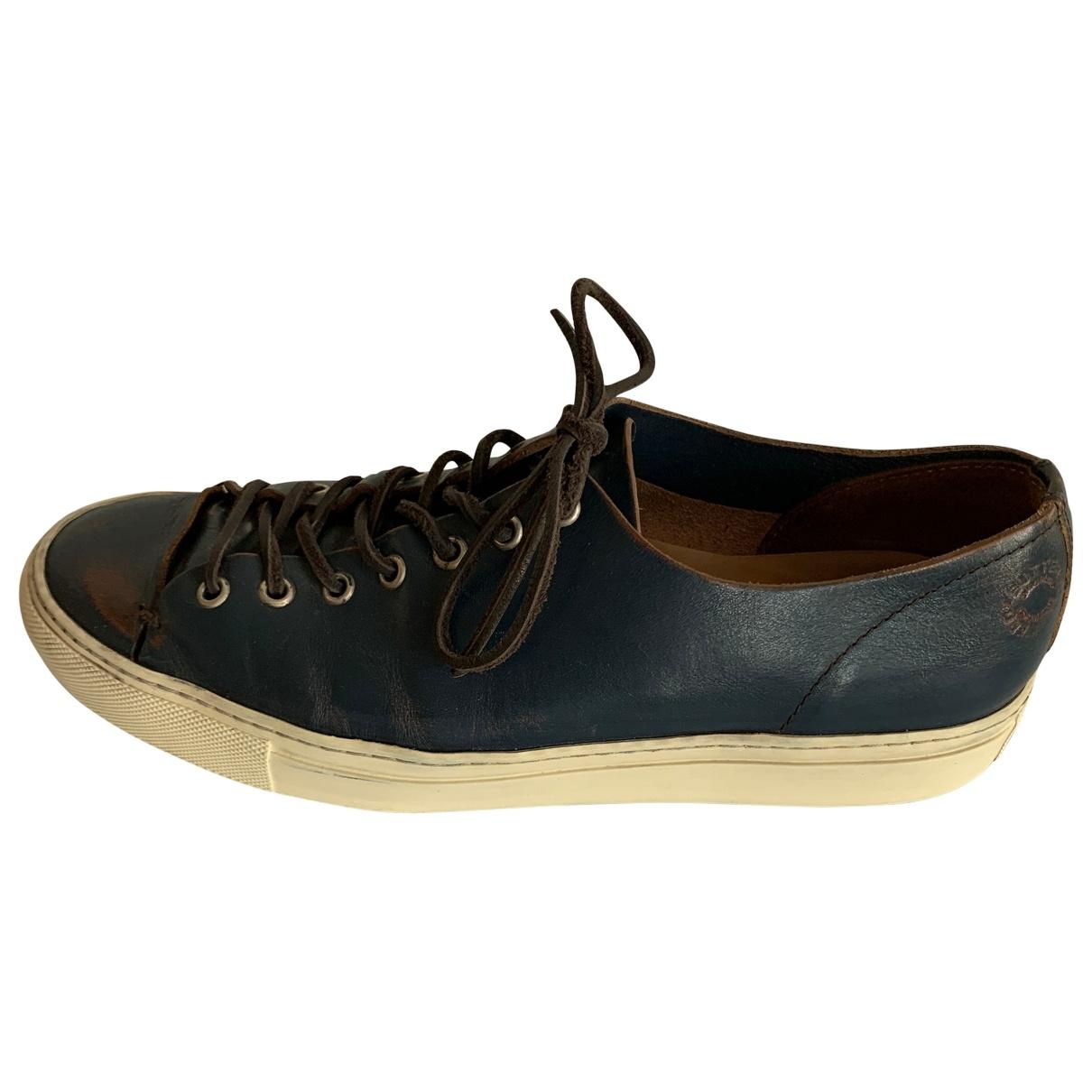 Buttero \N Sneakers in  Blau Leder
