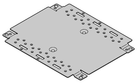 nVent – Schroff Mounting Plate Mounting Plate for use with Interscale M Electronic Case