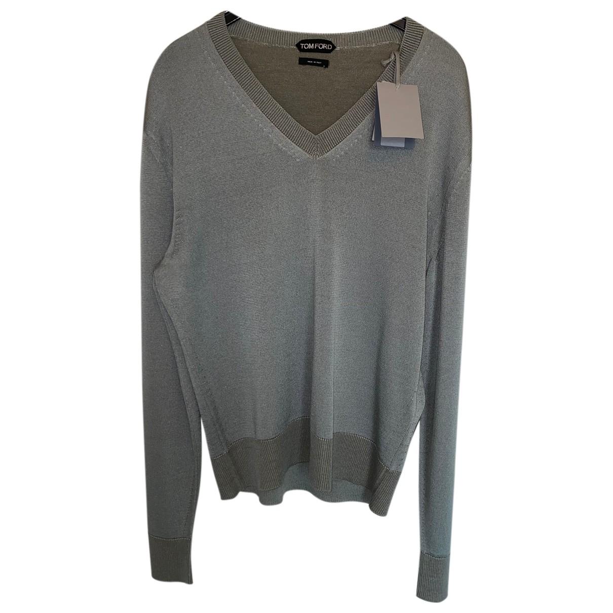 Tom Ford \N Pullover.Westen.Sweatshirts  in  Grau Seide