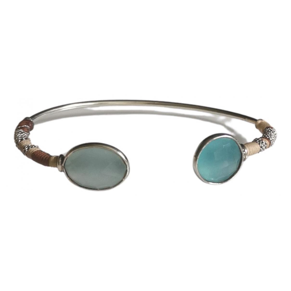 Gas \N Armband in  Blau Silber