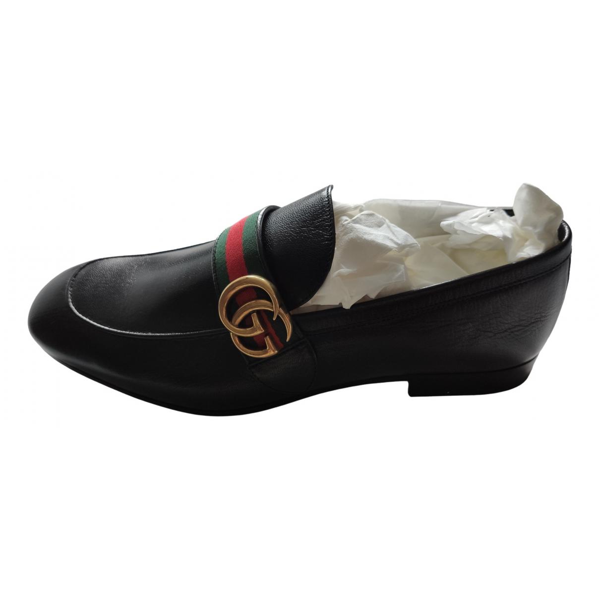Gucci \N Black Leather Flats for Men 9 UK