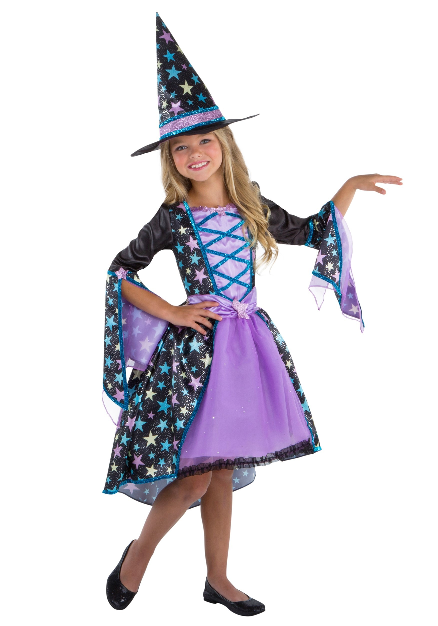 Pastel Candy Witch Girl's Costume