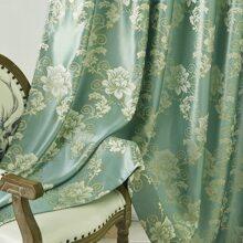 Vorhang mit Blumen Muster