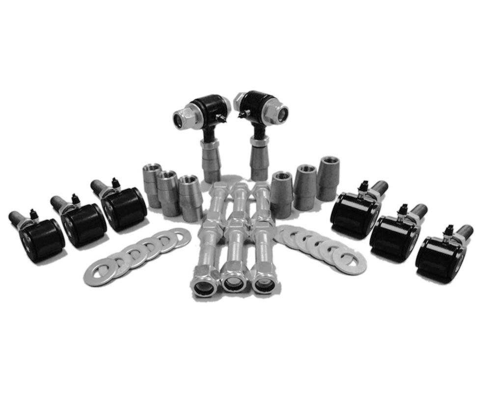 Steinjager J0011357 1-12 RH LH Poly Bushings Kits, Male 9/16 Bore x 3.00 Wide fits 1.750 x 0.120 Tubing Black Powdercoated Bush Housing Eight Poly End
