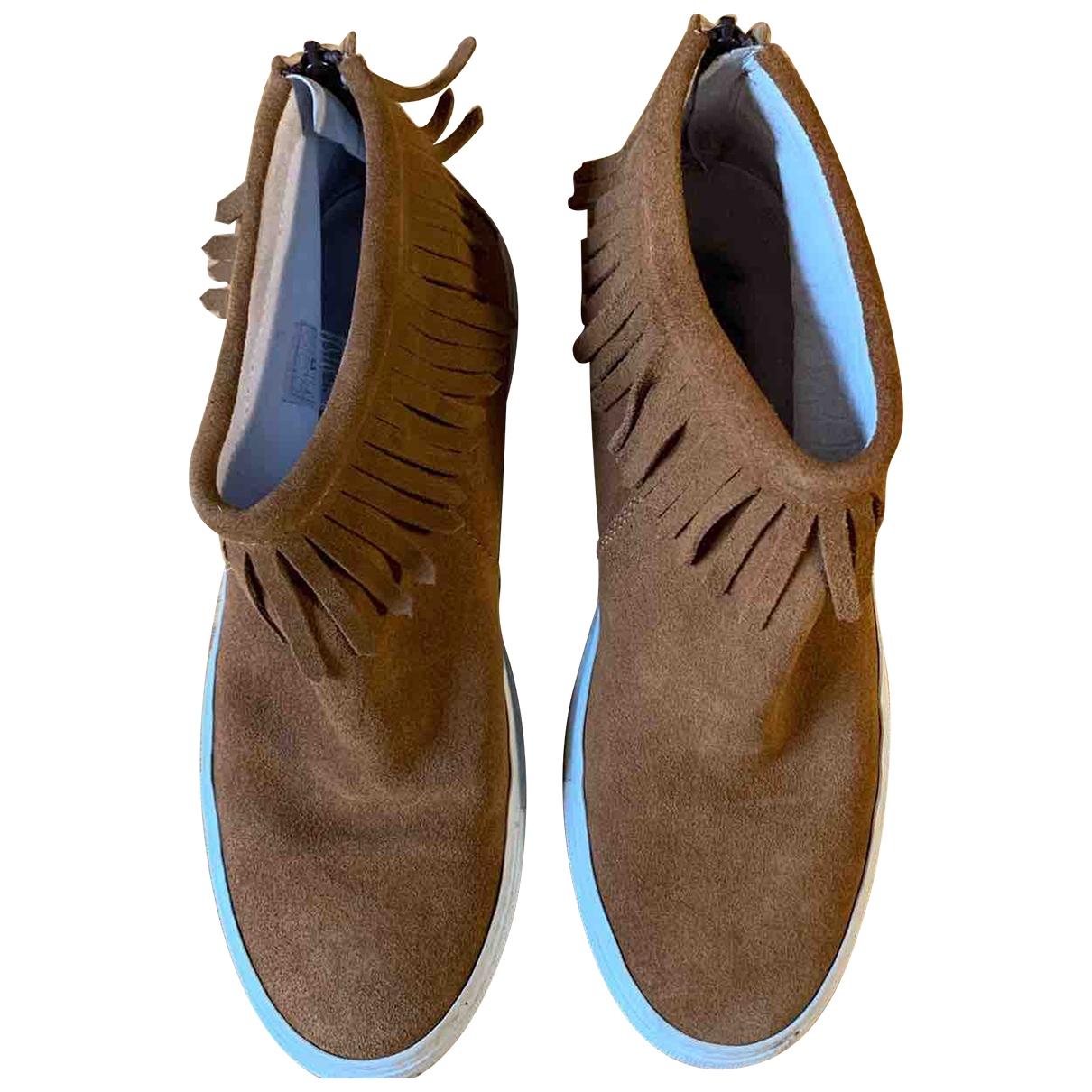 Joshua Sanders - Boots   pour femme en suede - marron