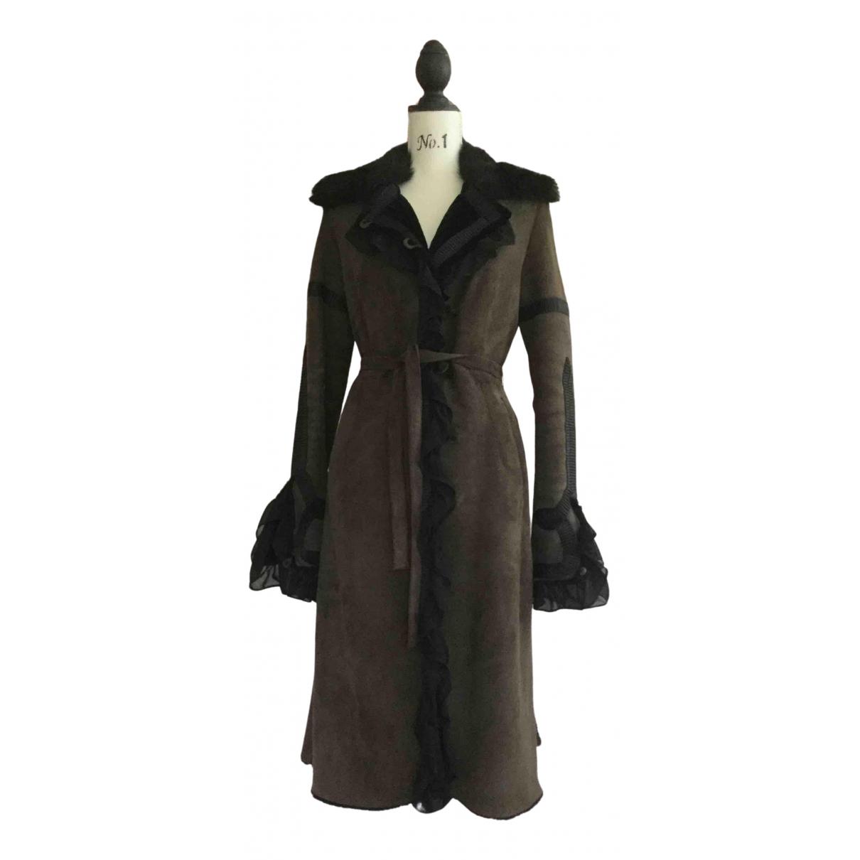 Rizal - Manteau   pour femme en mouton - kaki