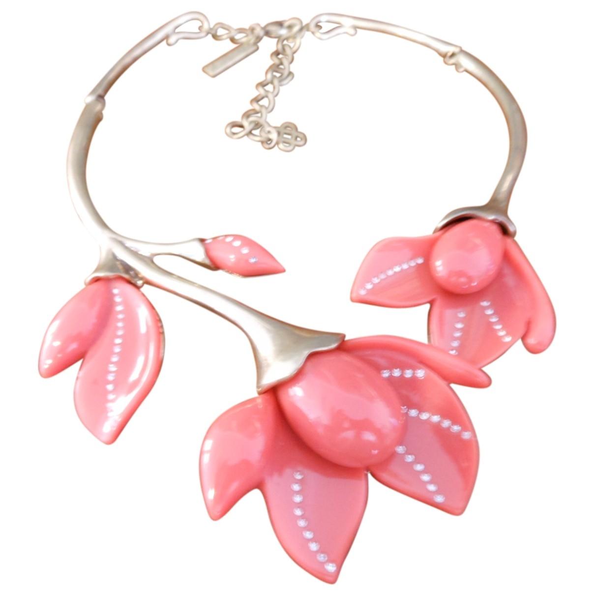 Oscar De La Renta \N Orange Metal necklace for Women \N