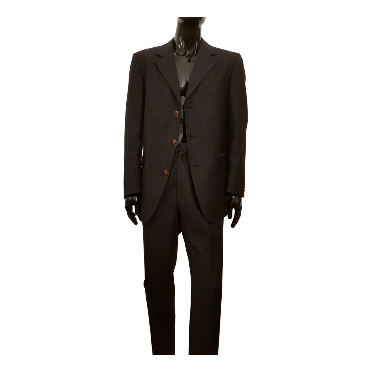 Gianni Versace \N Anzuege in  Blau Wolle
