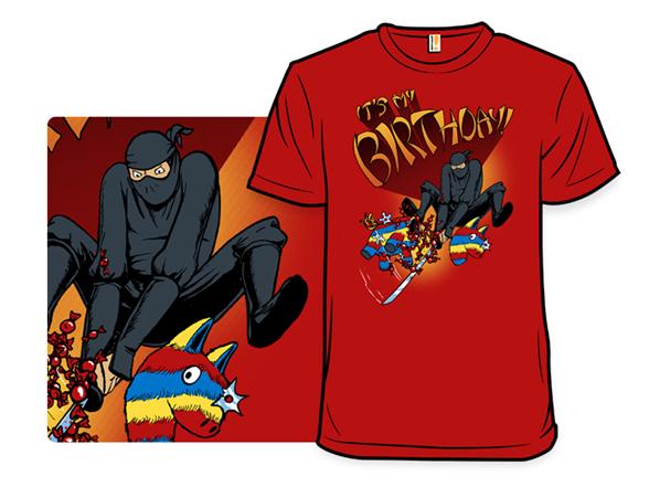 Ninja Birthday T Shirt