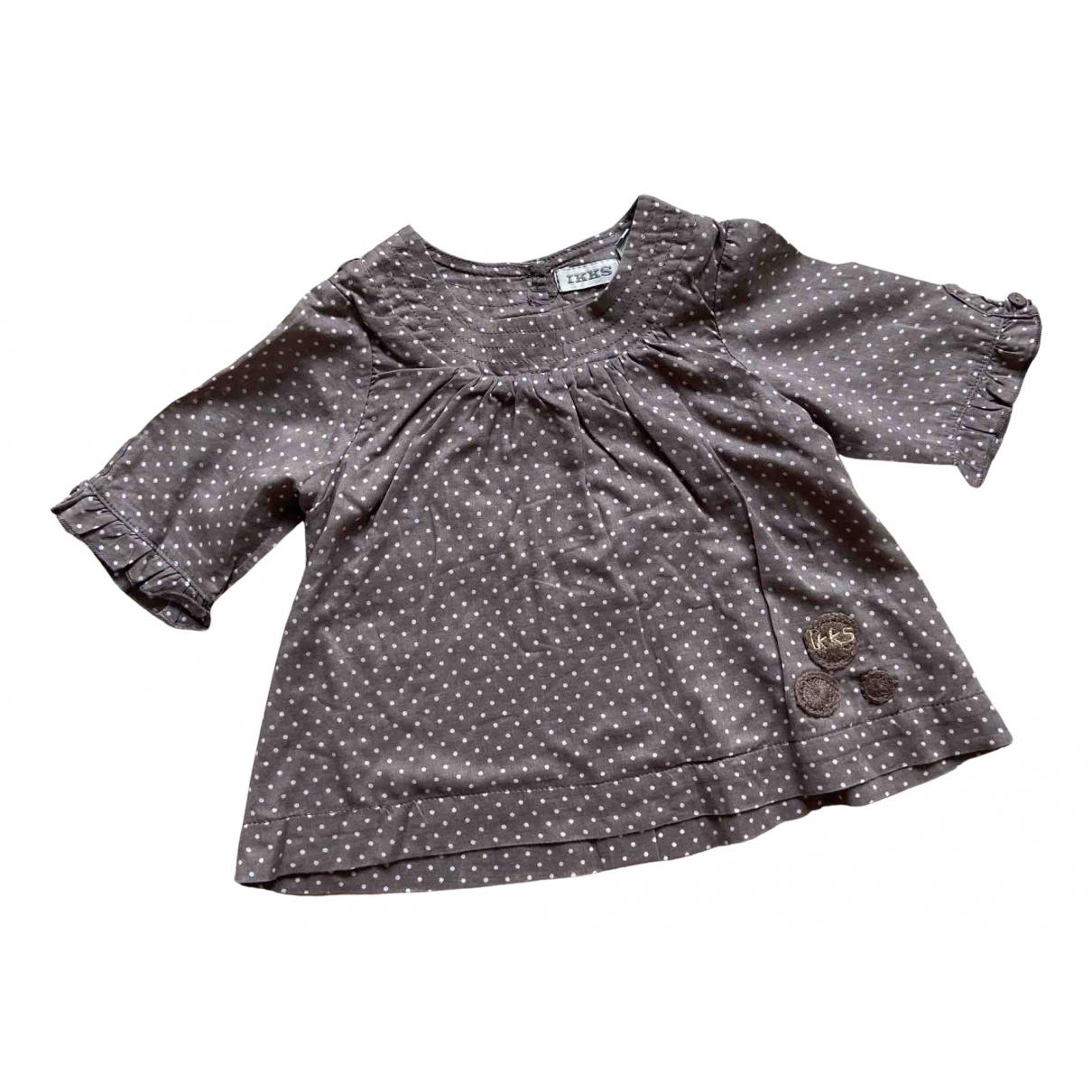 Ikks - Top   pour enfant en coton - marron
