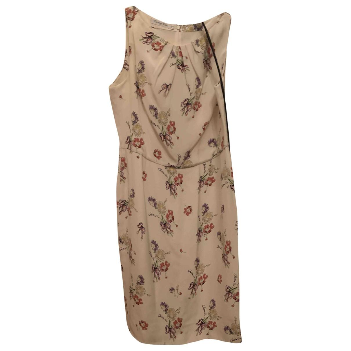 Dior - Robe   pour femme en soie - beige