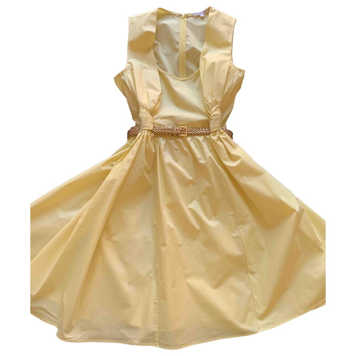Carven \N Yellow Cotton dress for Women 42 IT