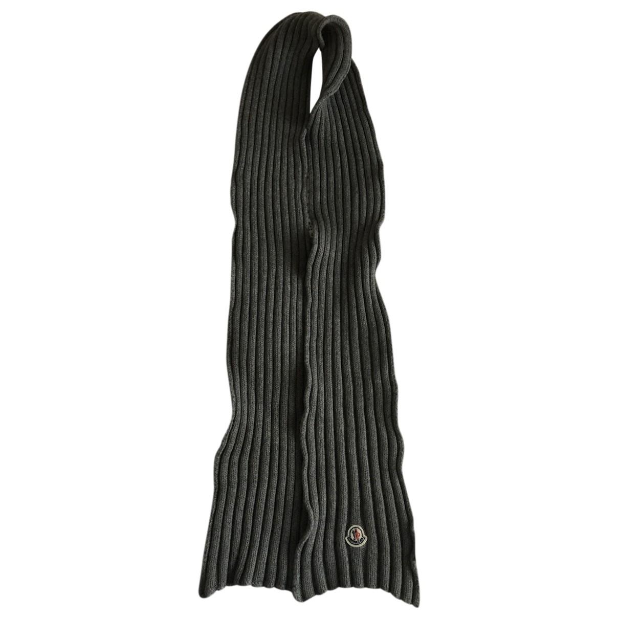 Moncler - Foulard   pour femme en laine - gris