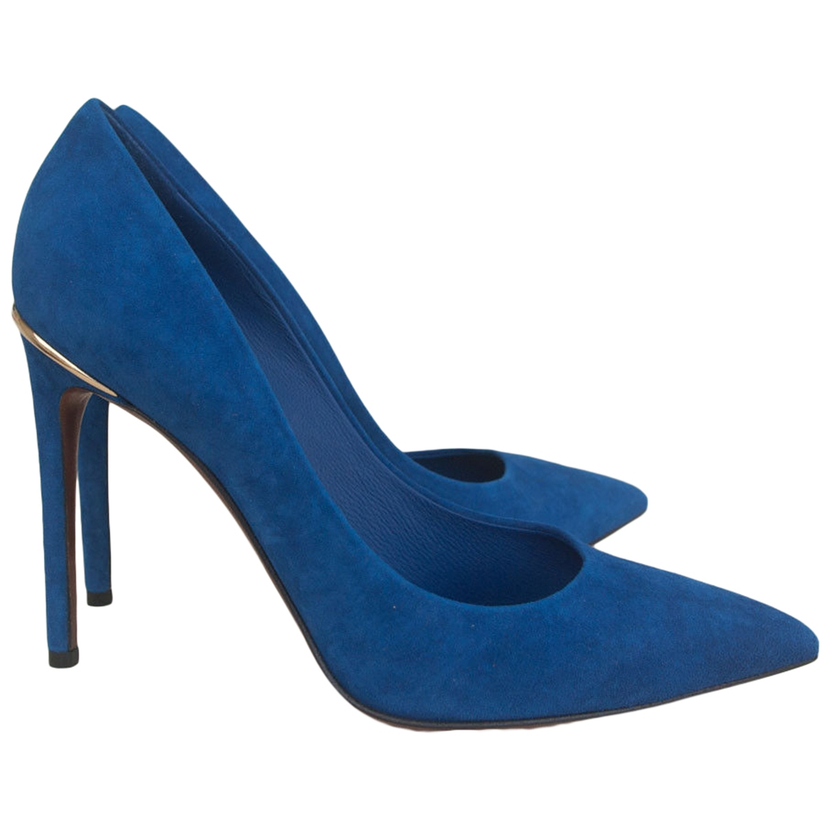 Louis Vuitton \N Pumps in  Blau Veloursleder