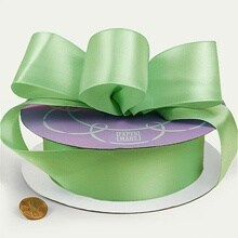 Polyester Sea Green Double Face Satin Ribbon - 1-1/2 X 50 Yards - Polyethyleneester by Paper Mart
