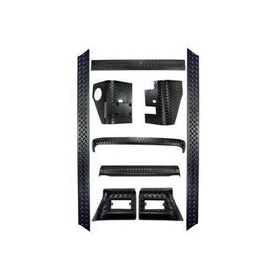 Rugged Ridge Body Armor Full Kit (Black Plastic) - 11650.5