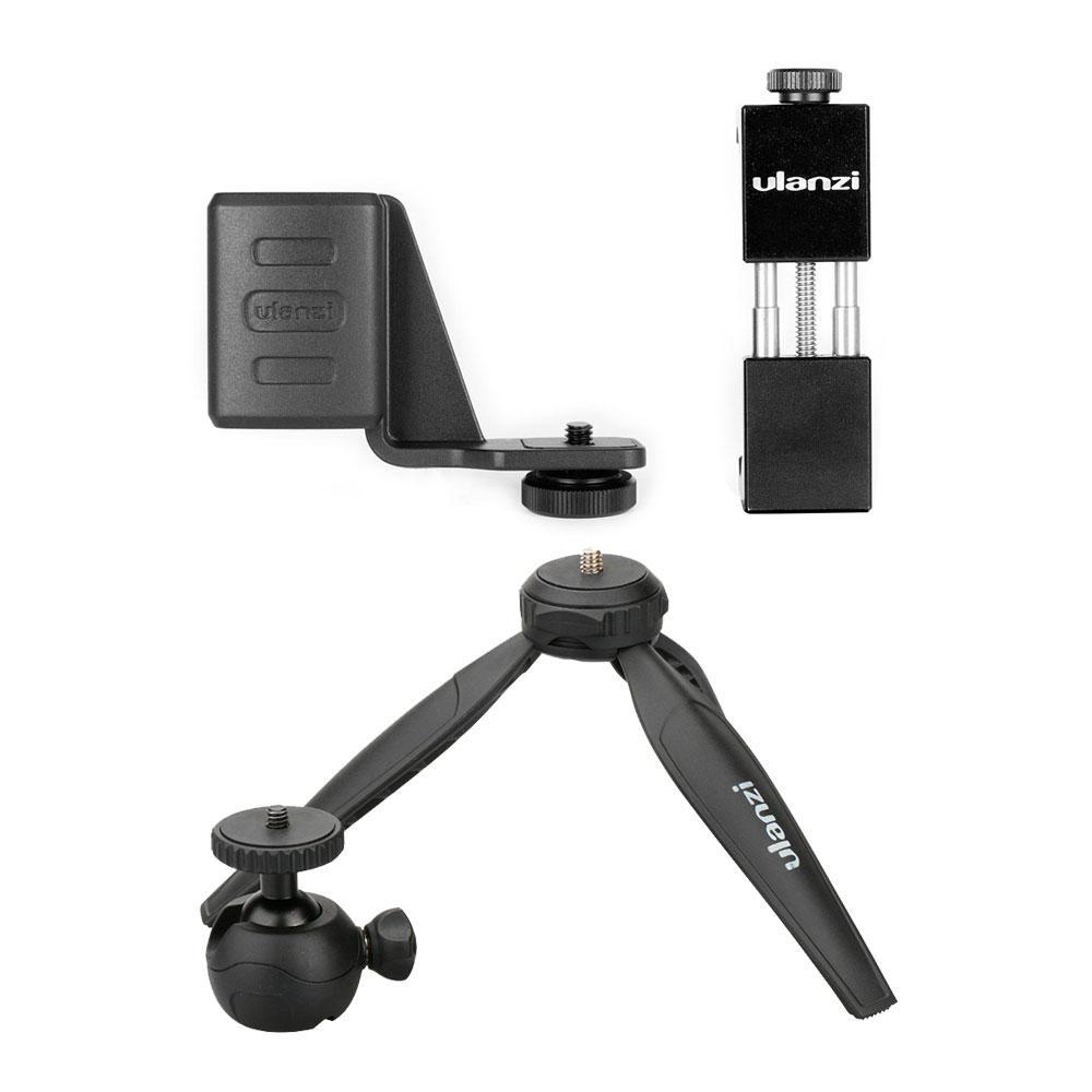 Ulanzi OP-1 Holder ST-02 Phone Clip Clamp MT-03 Tripod with 360 Degree Rotation Ballhead for DJI OSMO Pocket Gimbal Came