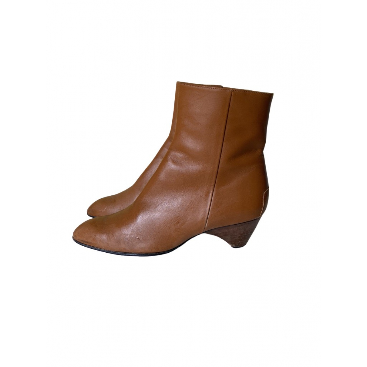 Tod's \N Beige Leather Ankle boots for Women 37.5 EU