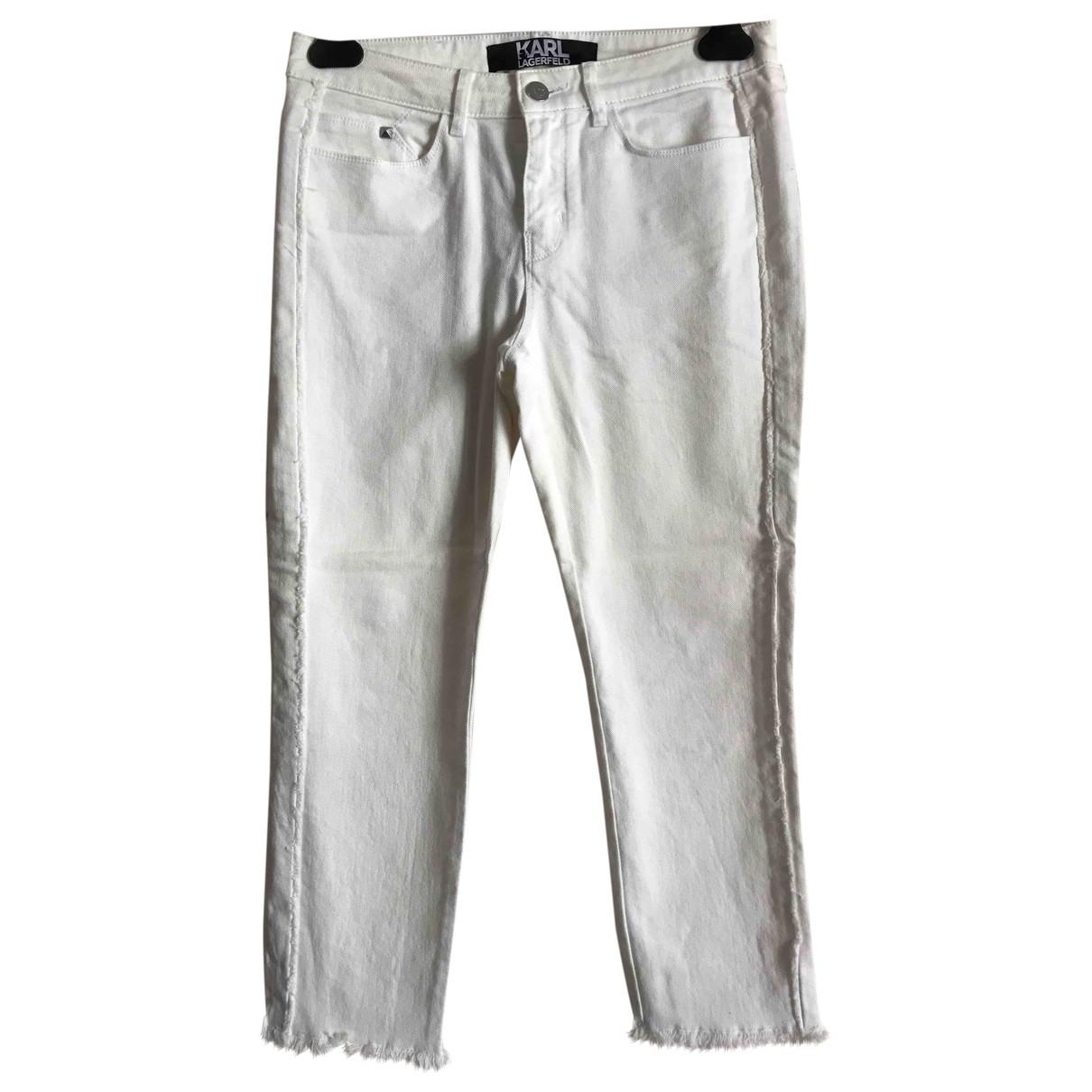 Karl \N Jeans in  Weiss Baumwolle - Elasthan