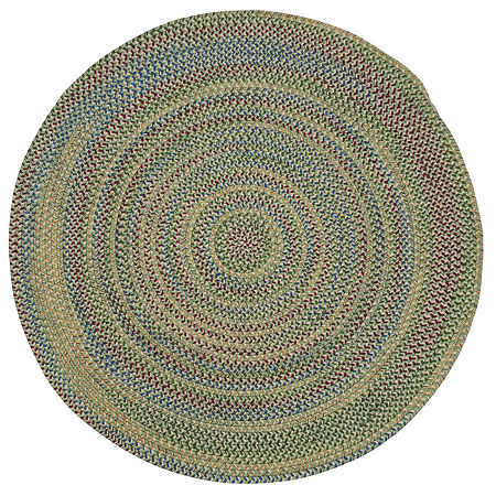 Colonial Mills Andreanna Reversible Braided Round Rug, One Size , Green