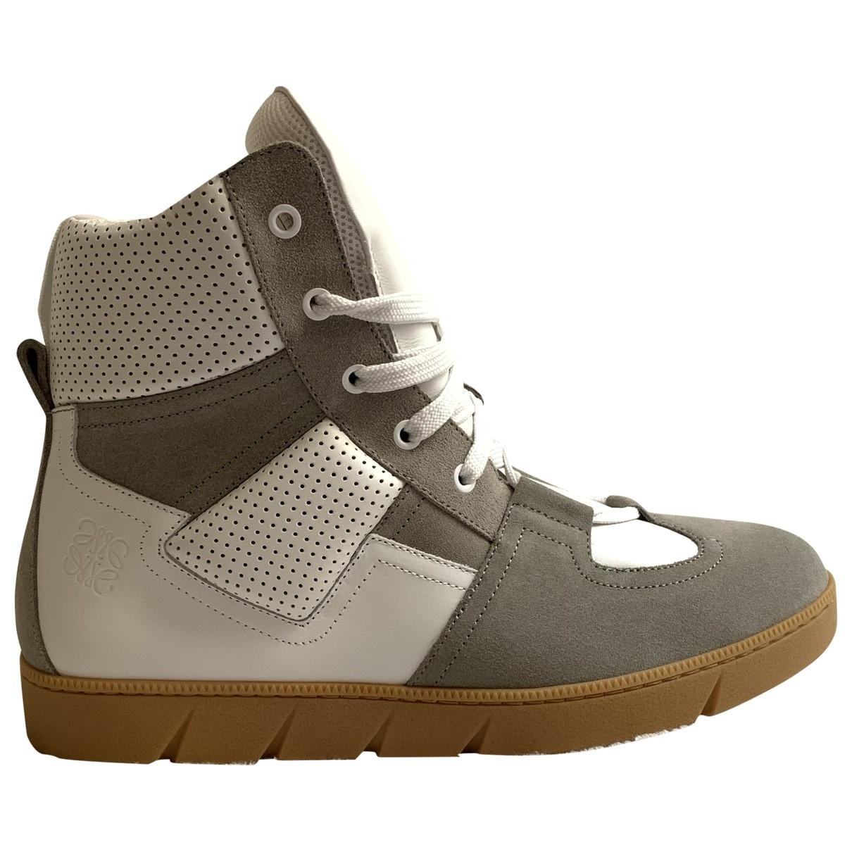 Loewe \N Sneakers in  Weiss Leder