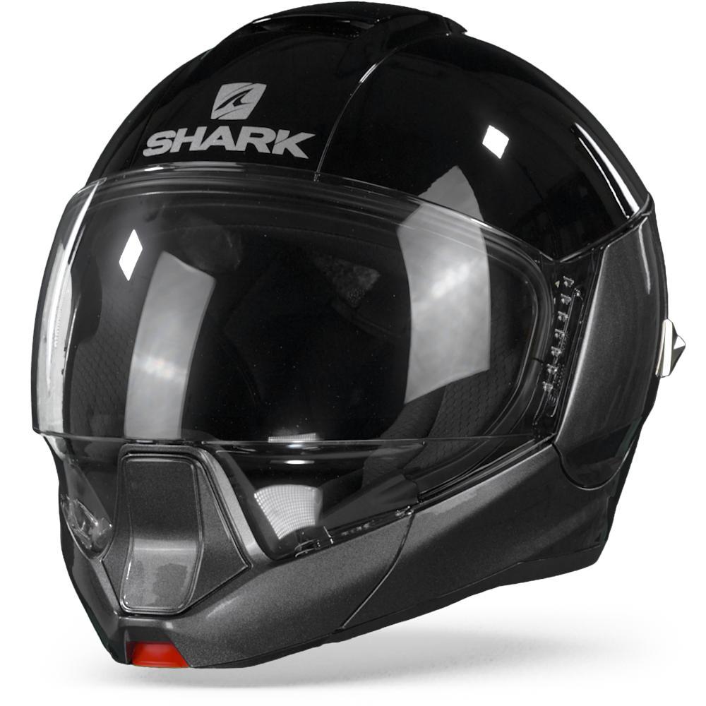 Shark Evojet AKA Dual Blank Anthracite Black Anthracite Modular Helmet S