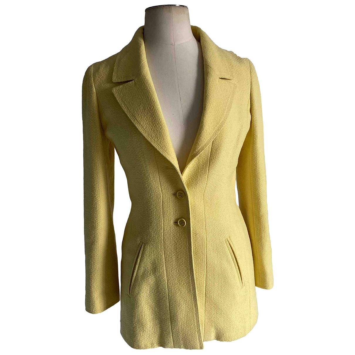 Chanel - Veste   pour femme en laine - jaune