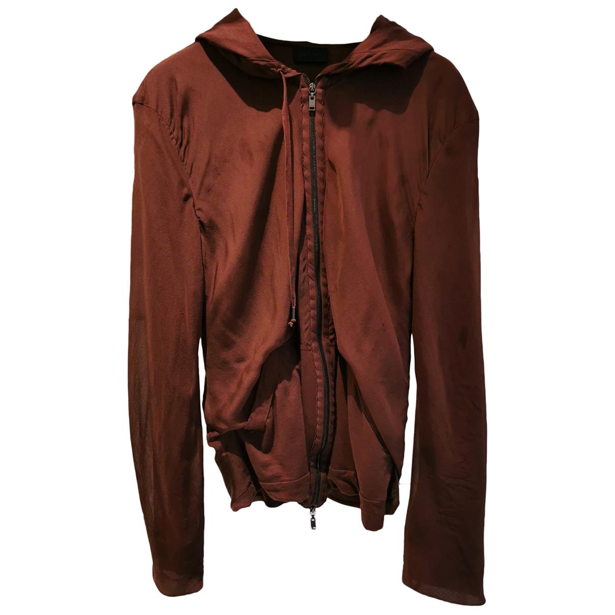 Lanvin \N Pullover.Westen.Sweatshirts  in  Bordeauxrot Seide