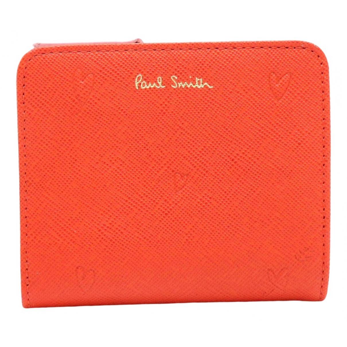 Paul Smith \N Portemonnaie in  Rosa Leder