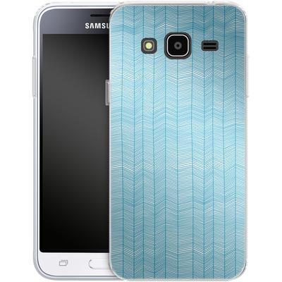 Samsung Galaxy J3 (2016) Silikon Handyhuelle - Fishbone von caseable Designs