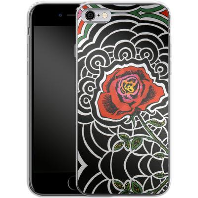 Apple iPhone 6s Silikon Handyhuelle - Marions Rose von Kaitlyn Parker