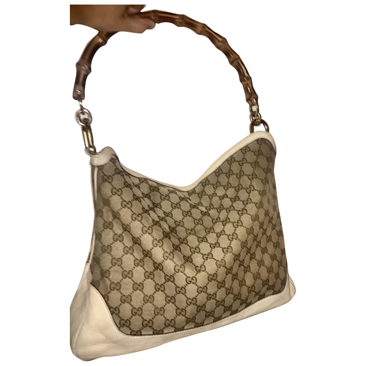 Gucci Bamboo Beige Cloth handbag for Women \N