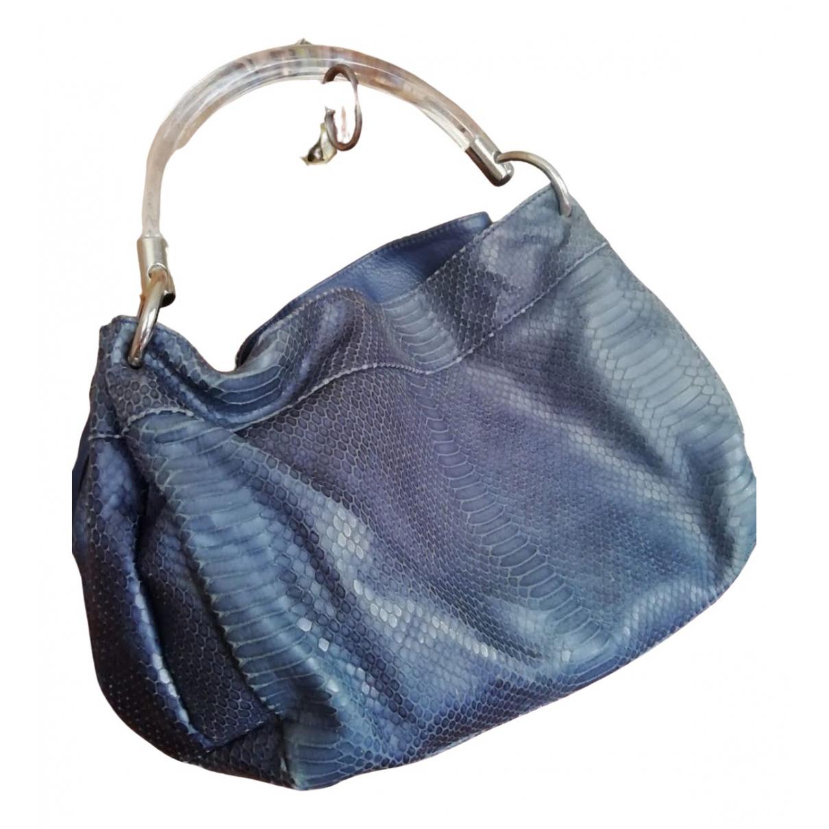 Furla N Blue Leather handbag for Women N