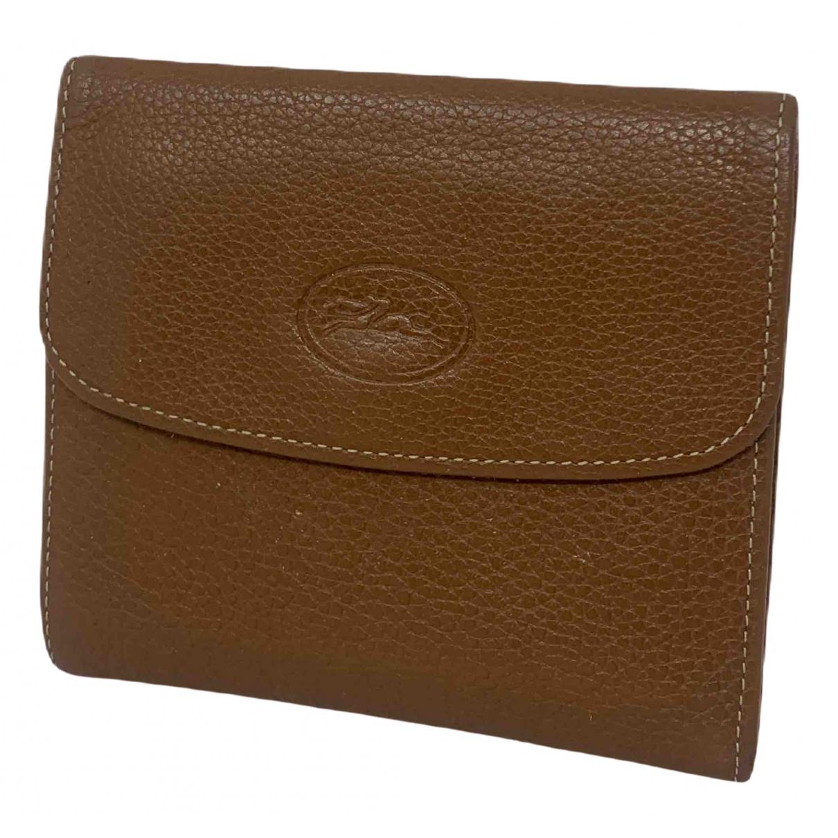 Longchamp - Portefeuille   pour femme en cuir - marron