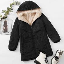 Mantel mit Reissverschluss und Kapuze