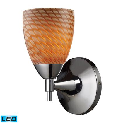 10150/1PC-C-LED Celina 1-Light Sconce in Polished Chrome and Coco Glass -
