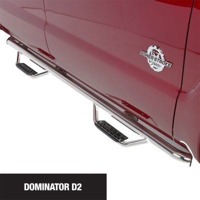 Go Rhino Dominator D2 Cab Length SideSteps (Polished Stainless Steel) - D24156PS