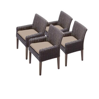 TKC099b-DC-2x-C 4 Venice Dining Chairs With Arms with 1 Cover in