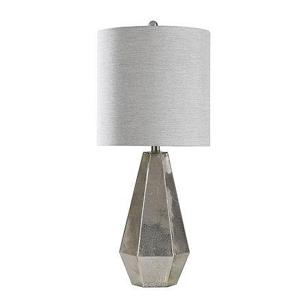 Stylecraft 13.5 W Mercury Glass Glass Table Lamp, One Size , Silver