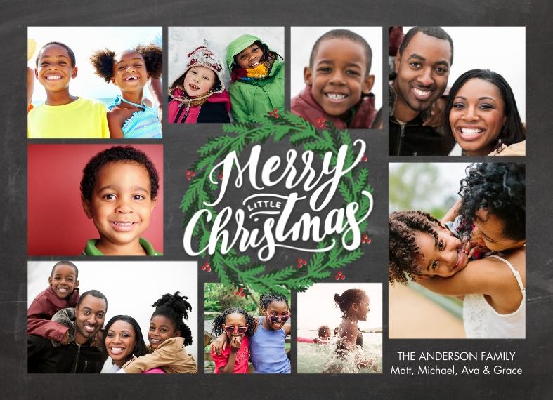 Holiday 5x7 Postcards, Card & Stationery -Postcard Christmas Green Wreath