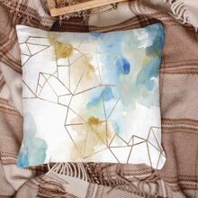 Water Color Pattern Cushion Cover Without Filler