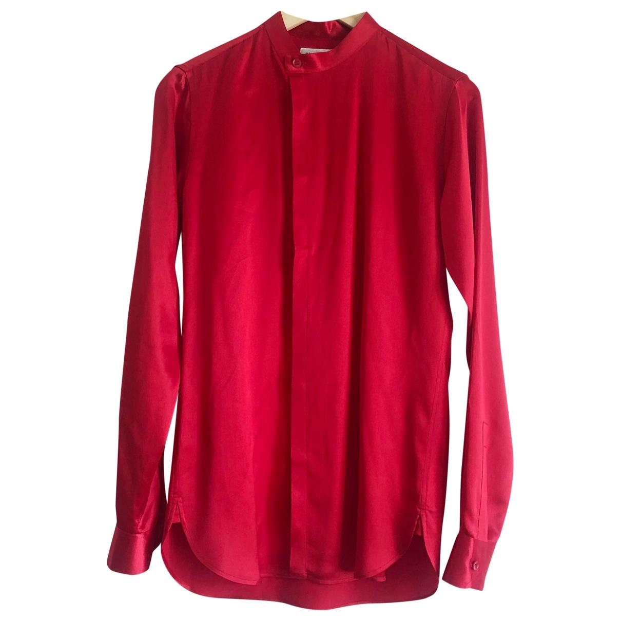 Saint Laurent \N Hemden in  Rot Seide