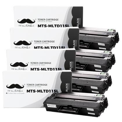 Compatible Samsung MLT-D115L cartouche de toner noire - Moustache - 4/paquet